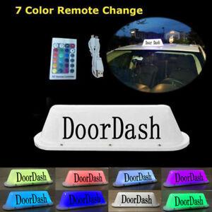 DoorDash Taxi Top Light LED Roof Bright Glowing Car Logo Wireless Logo TOP Light