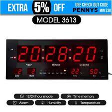 Digital Large Big Jumbo LED Wall Desk Alarm Clock With Calendar Temperature