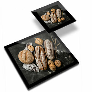 Glass Placemat  & Coaster - Rustic Loaves of Bread Baker Chef  #21177