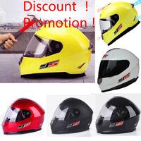 Windproof ABS Full Face Motorcycle Helmet Dual Visor Bike Race US Ship