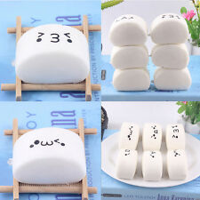 1PC Cute Face Expression Chinese Steamed Bread Squishy Bread Charm Pendant Toy