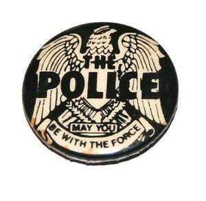 1977 Vintage THE POLICE concert pin pinback button music memorabilia rock roll