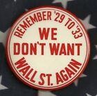 Franklin ROOSEVELT FDR Anti HOOVER DEPRESSION Political Campaign Pinback Button