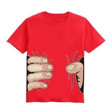 Boys Soft Cotton Yellow Big Squeeze Hand T-Shirt Sz 6