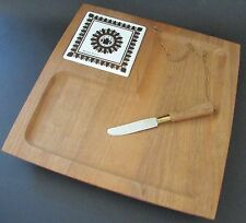 "Georges Briard Mid Century Modern ""Regalia"" Cheese Tray Serving Platter"