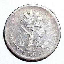 MEXICO - 50 Centavos 1878-S Gº-Guanajuato - 0.903 Silver - NO RESERVE