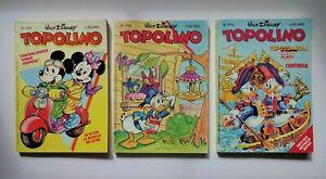 3  WALT DISNEY TOPOLINO ITALIAN COMIC BOOKS FROM 1989 : Nos. 1766, 1768 & 1773