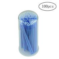 100pcs Disposable Soft Brushes Microfiber Tip Swab Brushes with Transparent Box