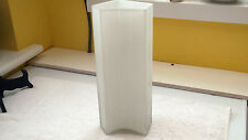 SHAPED GLASS VASE WITH A RIBBED EFFECT  CLEAR GLASS WITH A WHITE INNER