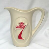 SEAGRAM'S 7 SEVEN CROWN WHISKEY WATER BAR PITCHER JUG MCCOY MID CENTURY