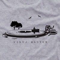 Vinyl Record t-shirt art  NEW analog dj gift tshirt VINYL MASTER Tshirt
