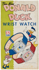 Walt Disney Donald Duck Wrist Watch Boxed, WORKING RARE 1947