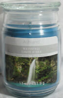 Ashland Scented Candle NEW 17 oz Large Jar Single Wick Spring WATERFALL blue