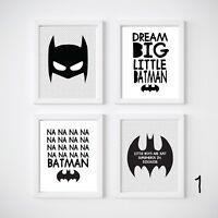 Batman Nursery Room Decor, Kids Wall Prints, 4 Styles to choose from