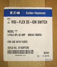 EATON CUTLER HAMMER VISI FLEX DEION SWITCH Model T 3 Pole 60 Amp SPL 371D392G05