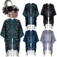 1920s Shawl Wrap Sequin Fringe Bolero Evening Scarf Cape For Gatsby Prom Formal