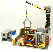 LEGO INSTRUCTIONS modular Construction Site/Cement Mixer/Dump Truck/Bank/Store