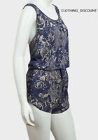 ladies jumpsuit play LIGHT WEIGHT summer holiday shorts vest size 8 10 12 14 NEW