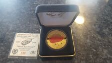 COMMEMORATIVE 1997 1998 DETROIT RED WINGS 1 OUNCE .999 SILVER GOLD COIN Limited
