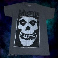 New Misfits Band Horror Punk Rock Charcoal Mens Retro Vintage T-Shirt