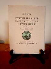 Gus Bofa. Synthèses littéraires et exra littéraires. 1/90 Hollande. 1923