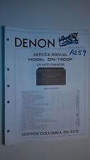 Denon dn-1200 f service manual original repair book stereo cd player