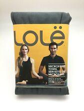 LOLE Microfiber Yoga Towel: Charcoal I All Sports I Antibacterial (SH33-52)