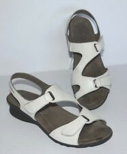 MEPHISTO WHITE LEATHER SLINGBACK SANDALS WOMEN SZ 39/US 9 *GUC*