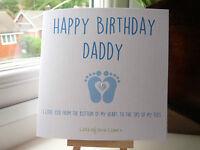 Handmade Personalised Birthday Card Daddy Grandad Mummy Grandma Nanny from Baby