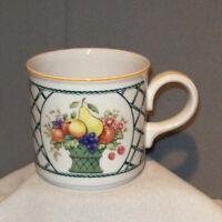 Villeroy & Boch BASKET 1748 Fruits Vitro Porcelain Cup Mug made in Germany