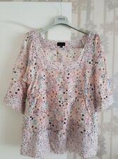 Paul Smith Ladies Silk-Cotton Blend Romantic Soft Light Blouse Top Size M Fab!