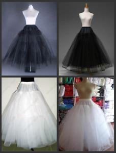 RULTA Wedding dress Petticoat 3 / 8 Layers Tulle no Hoop Underskirt Crinoline K1