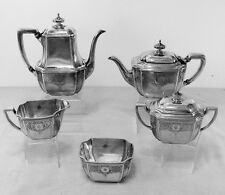 Hampton Engraved by Tiffany & Co. Sterling Silver 5 Piece Tea & Coffee Service