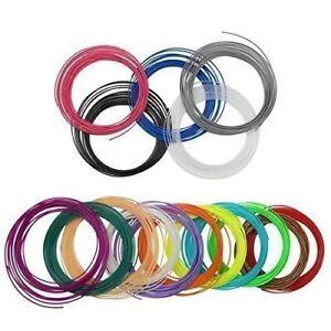 10 color 5M PLA Filament 1.75mm 3D Printer Pen Plastic Rubber Printing Material