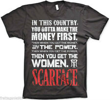 SCARFACE MONEY FIRST  T-Shirt  camiseta cotton officially licensed