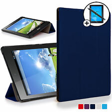 Navy Blue Smart Case Cover Shell Acer Iconia One 7 B1-780 Screen Prot & Stylus