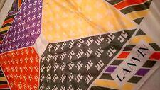 Lanvin - Bright Green, Cream, Orange, Yellow & Purple Square Scarf