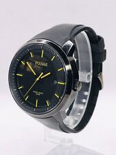 Pulsar (By Seiko) Watch VJ42-X051 - Black Dial - Yellow Hands - New Crystal