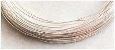 925 Sterling Soft Round Wire 1mm 18 Gauge   1 Metre