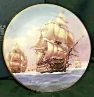 HMS Victory Leading The Line - Royal Mint Collector Plate c.2004