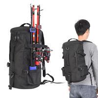 23L Cylindrical Fishing Backpack Lure Fishing Rod Bag Sling Shoulder Bag