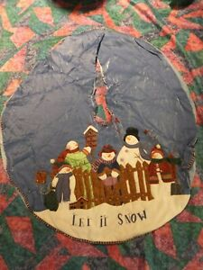 48'' Around Christmas Tree Skirt with Snowman