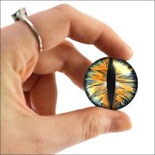 "1"" Inch Scifi Snake Dragon Eyeballs Glass Gothic Medieval Fantasy Taxidermy 25mm"