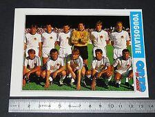 JUGOSLAVIJA YOUGOSLAVIE FICHE ONZE MONDIAL COUPE MONDE FOOTBALL ITALIA 90 1990