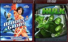 HULK + BLADES OF GLORY HD DVD Will Ferrell Jon Heder Eric Bana Jennifer Connelly