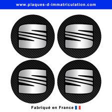 sticker Seat aspect carbone pour cache moyeu de jante (lot de 4) seat-carb-02