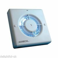 "Manrose XF100LV 100mm 4"" Wall/Ceiling 12v Low Voltage Bathroom Extractor Fan"