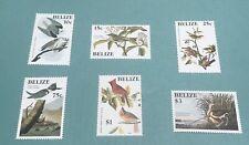 BELIZE Scott 750-55 Bird Stamps Audubon Set MNH
