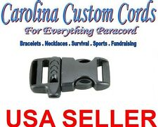 "(50) 5/8"" Emergency Survival Side Release Whistle Buckles  Paracord Bracelet cc3"