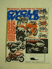 December 2001 Cycle World Magazine, Big Red's Big Guns Honda 2002  <VF> (BD-6)